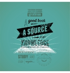 Typography retro bookstore poster design vector