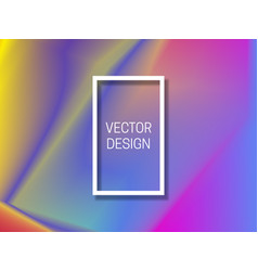 vibrant holographic background with frame vector image
