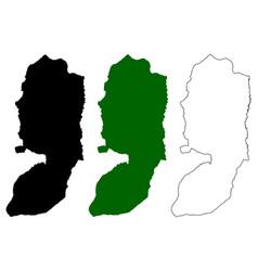 West bank map vector