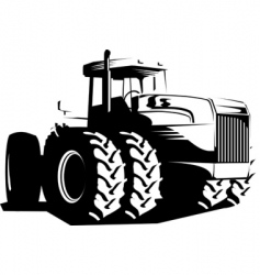 wheeled tractor vector image vector image