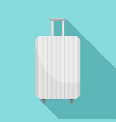 white travel bag icon flat style vector image