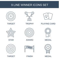 winner icons vector image