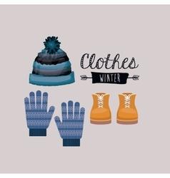 Winter clothing design vector