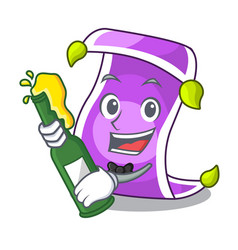 with beer magic carpet with a banner cartoon vector image