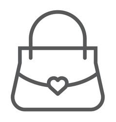 women bag line icon girl and purse handbag sign vector image