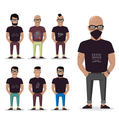 cartoon male for graphic design web site social vector image vector image