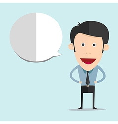 cartoon with blank bubble in flat style vector image vector image