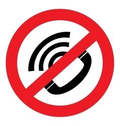 no sound icon Phone vector image vector image