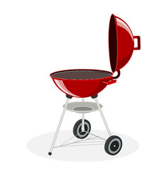 round barbecue grill vector image
