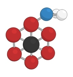 Science background with molecule on white vector image