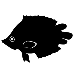 Silhouette of leaf fish vector image