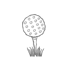 sketch of the golf ball vector image