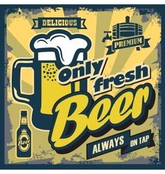 vintage beer sign vector image vector image