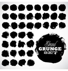 Abstract grunge ink draw shapes vector image