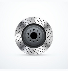 brake disc isolated vector image