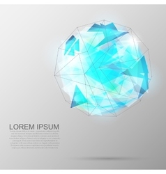 Future geometric figure Abstract template vector image