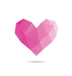 Heart shape abstract vector