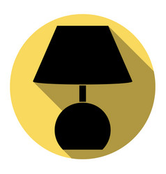 lamp sign flat black icon vector image vector image