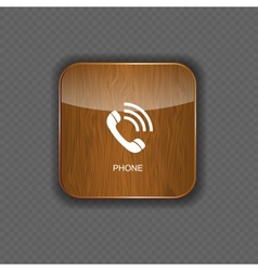Phone wood application icons vector image vector image