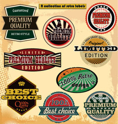 retro label banner collection vector image vector image