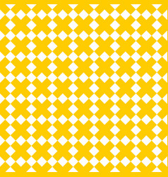tile yellow and white x cross pattern vector image