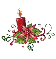 Candle christmas vector image vector image
