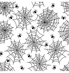 halloween party decoration spider web seamless vector image