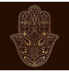 Hand drawn hamsa symbol hand of fatima ethnic vector