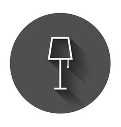 lamp furniture icon lamp with long shadow vector image