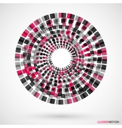Rotating cubes logo vector image vector image