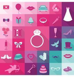 Set of Wedding Vintage Elements vector image vector image