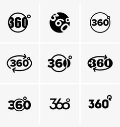 signes of 360 degrees vector image