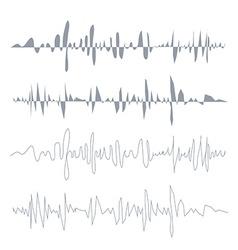 sound waves set Audio equalizer technology pulse vector image