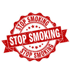 stop smoking stamp sign seal vector image vector image