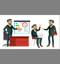 boss working character working bearded vector image