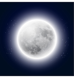 Full moon in the night sky vector image vector image