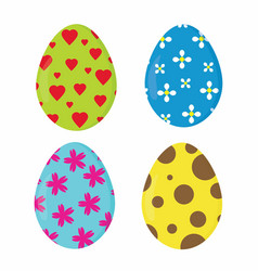 nice easter eggs vector image vector image