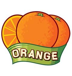 orange label design vector image vector image