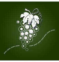 Paper grapes vector