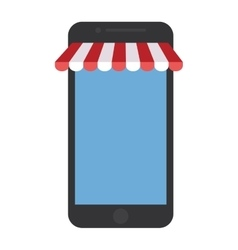 smartphone shopping online store graphic vector image vector image