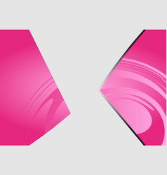 a pink color design with a burst and rays vector image