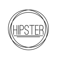 abstract hipster label vector image