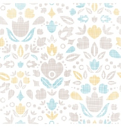 Abstract vintage ornamental tulips textile vector