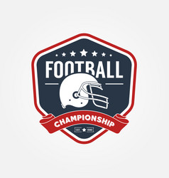 American football championship logo sport design vector
