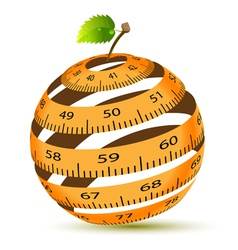 Apple and measuring tape vector