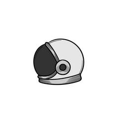 astronaut helmet hand drawn icon isolated vector image