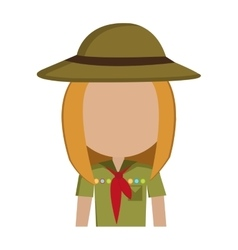 avatar girl wearing colorful clothes and hat vector image