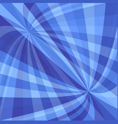 Blue dynamic background - design from curved ray vector