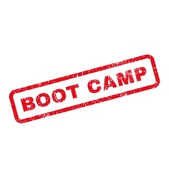 Boot Camp Text Rubber Stamp vector