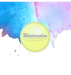Bright watercolor background vector